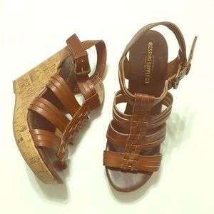 Mossimo Brown Wedge heels - size 7